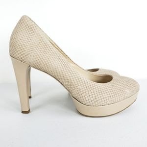 Rockport Adiprene By Adidas Cream Platform Heels